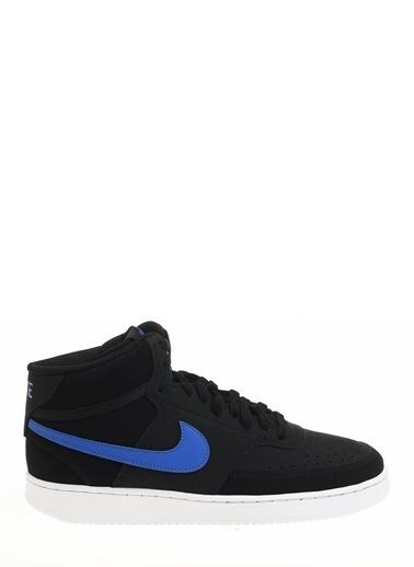 Nike Erkek Siyah Basketbol Ayakkabısı CD5466 - 007 Court Vision Mid Siyah